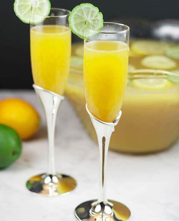 Punch citron champagne au Thermomix