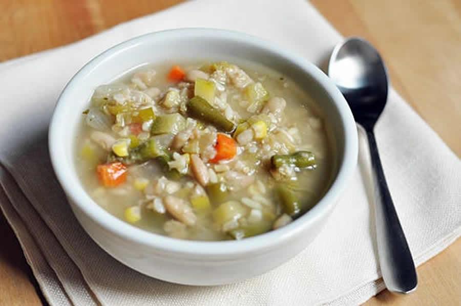 Bouillon de légumes au riz au cookeo