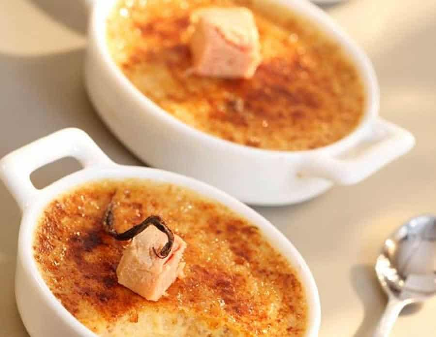 Crèmes brûlées au foie gras au thermomix