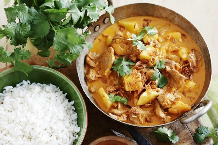 Curry de porc au lait de coco au thermomix