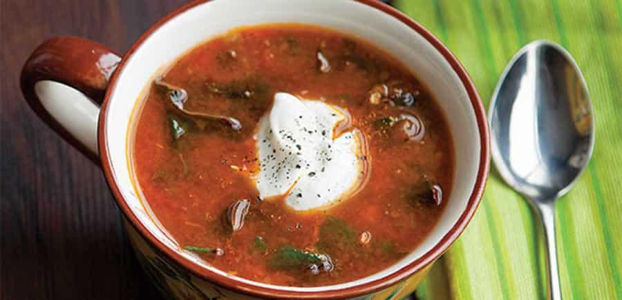 Soupe de blettes au jus de tomates au thermomix