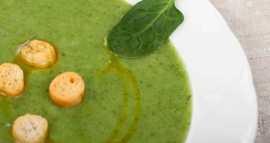 Soupe de courgettes et épinards au cumin au thermomix