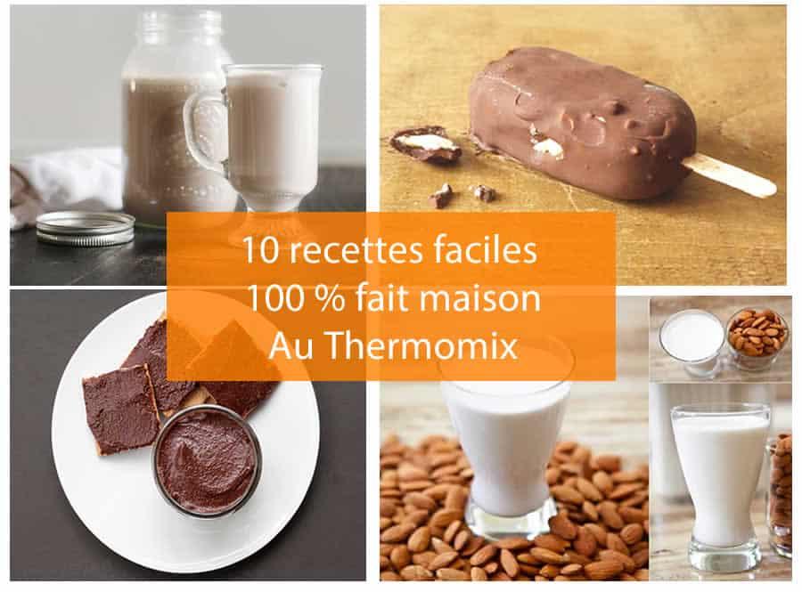10 recettes faciles 100 % fait maison au thermomix