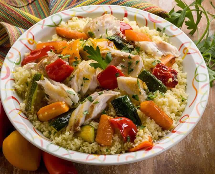 Couscous de poisson et légumes au thermomix