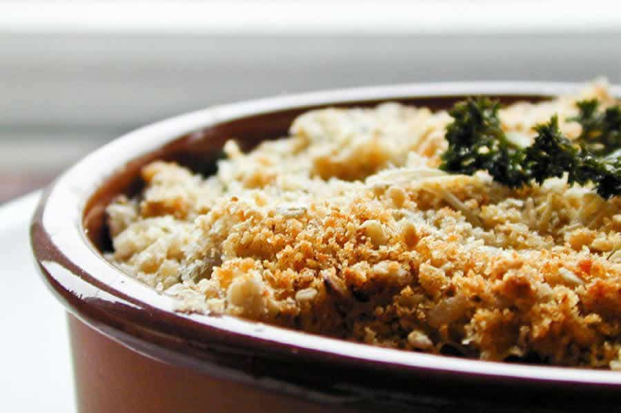 Crumble courgettes fromage ail et fines herbes au thermomix