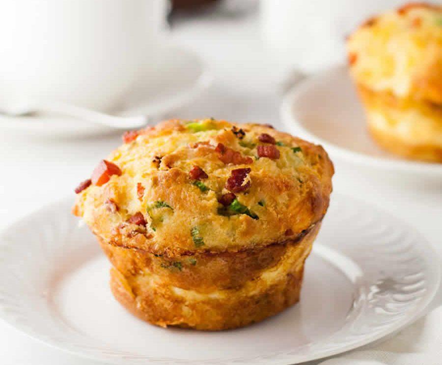 Muffins lardons et légumes au thermomix