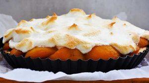 Tarte à l'abricot meringuée au thermomix