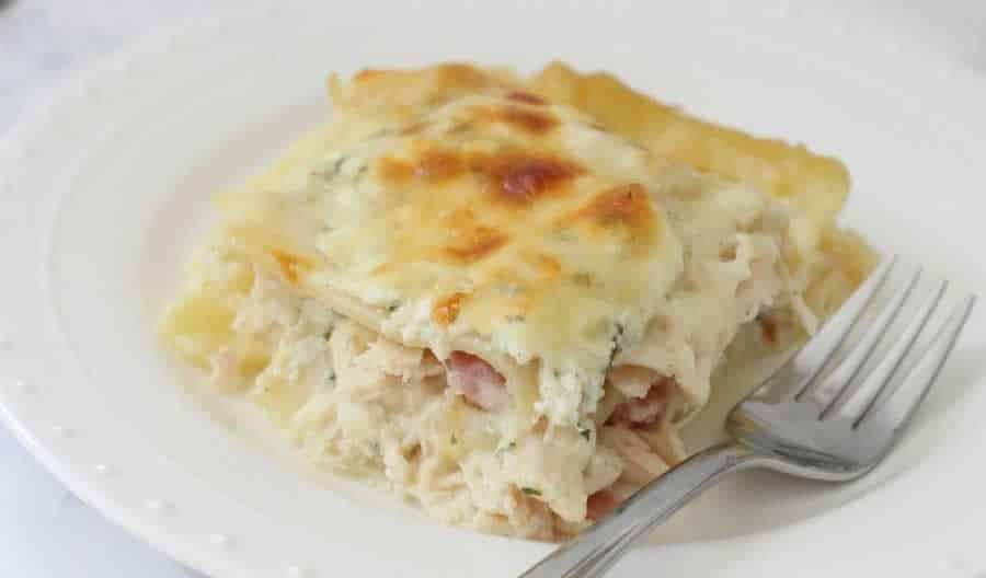 Lasagnes au chou-fleur et jambon au Thermomix