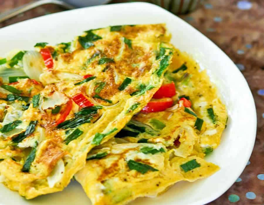 Omelette asiatique Recette WW