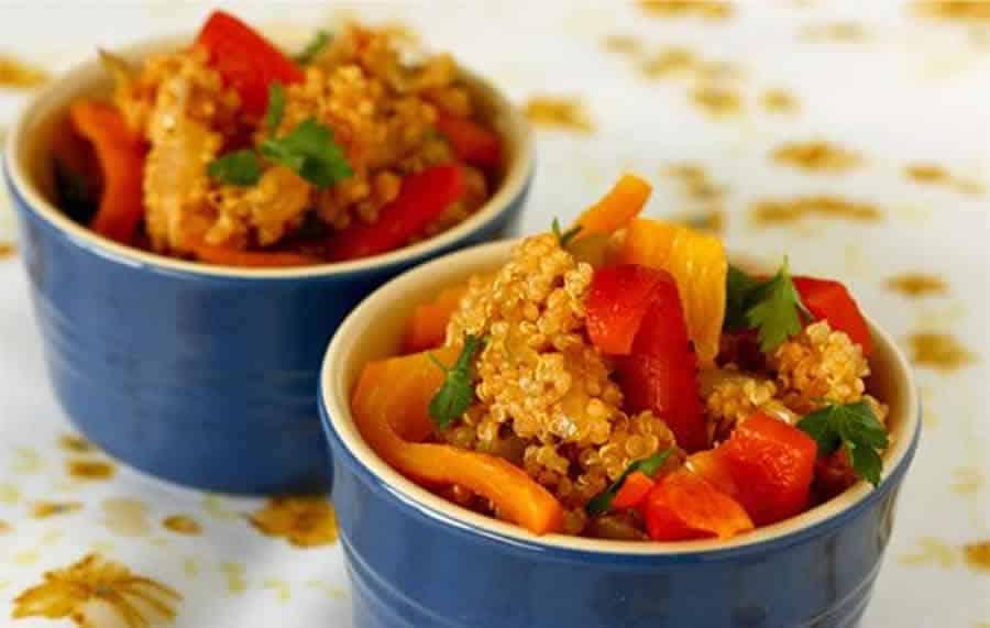Quinoa au sauce basquaise au thermomix
