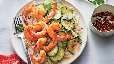 Salade de crevettes et courgettes Recette WW