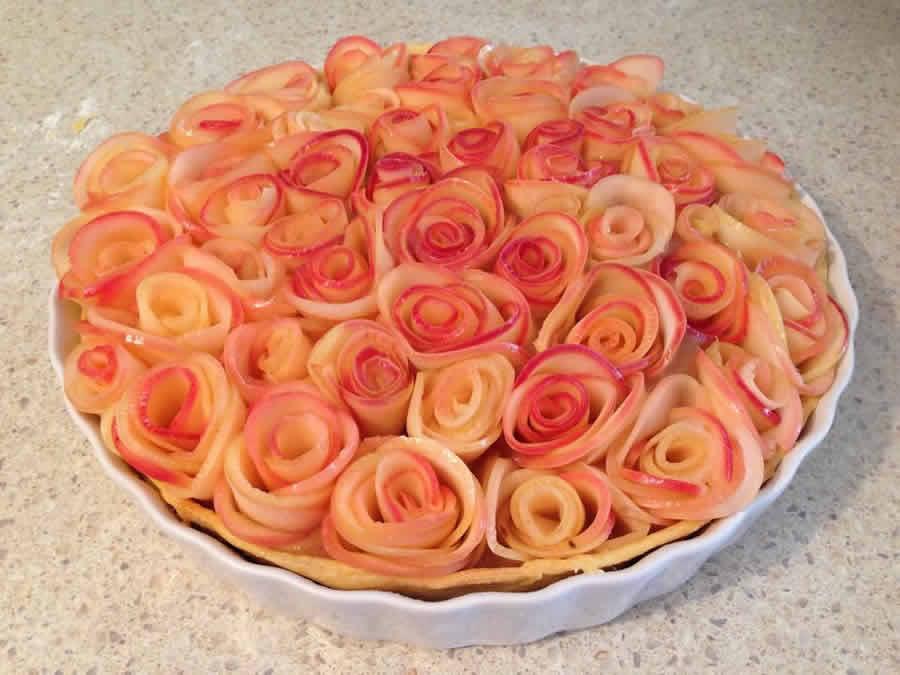 Tarte aux fleurs de pommes au thermomix