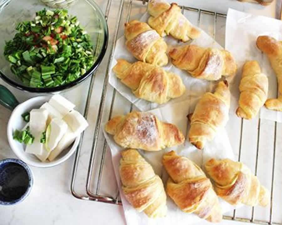 Mini-croissants apéritif au saumon au thermomix