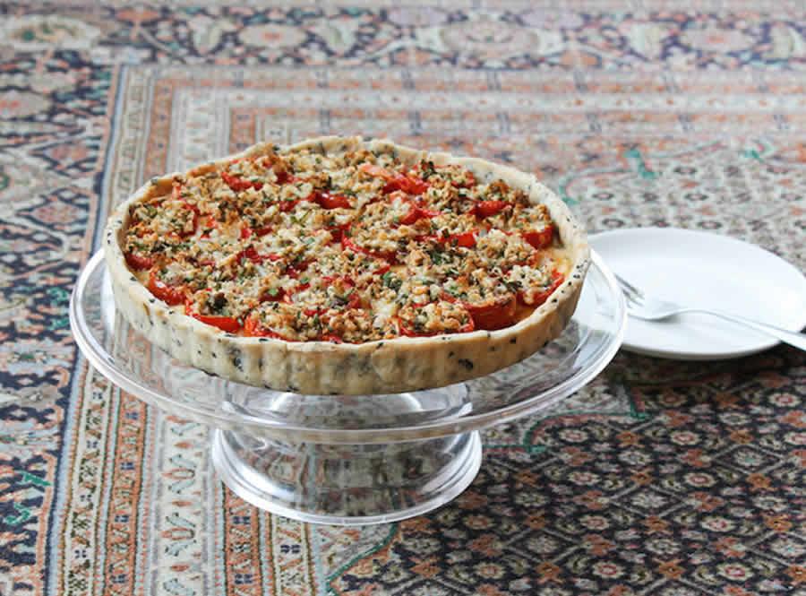 Quiche aux anchois et tomates cerises au thermomix