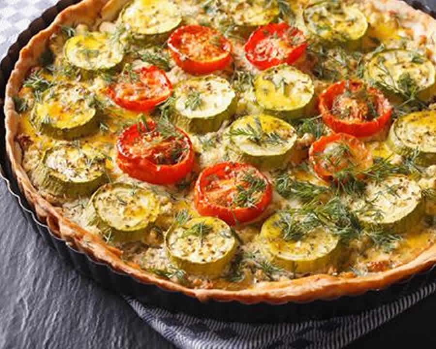 Tarte aux courgettes bacon et tomates au thermomix