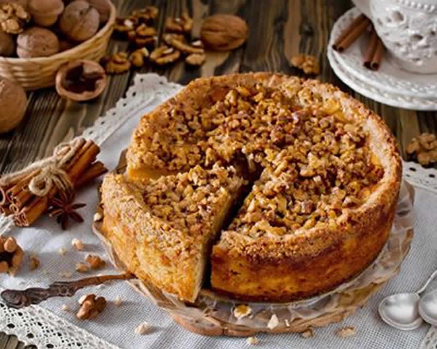Gâteau aux Pommes noix et cannelle au thermomix