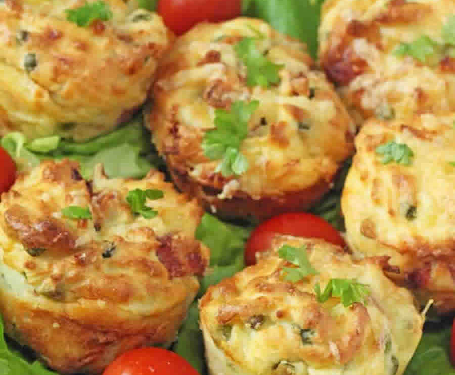 Muffins aux pomme de terre et jambon au thermomix