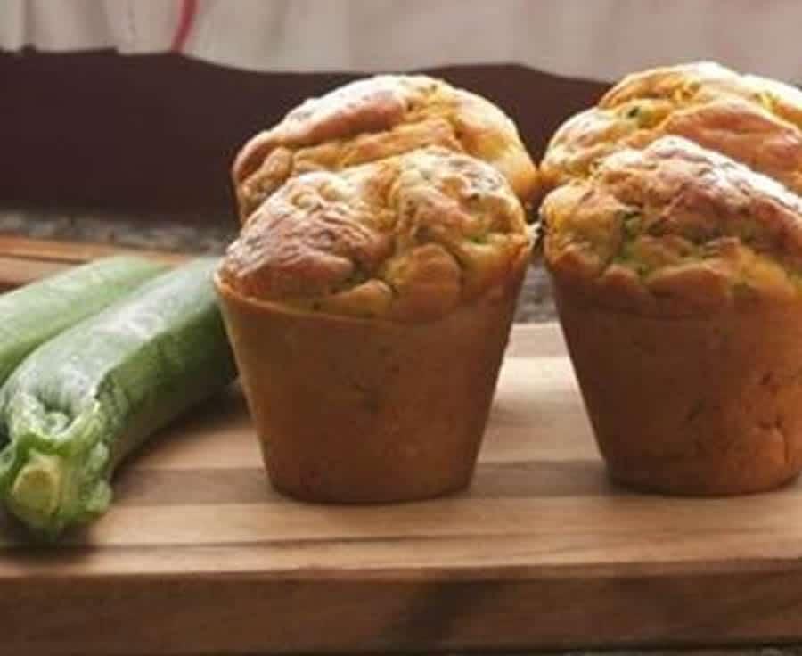 Muffins courgettes au coeur de kiri au thermomix