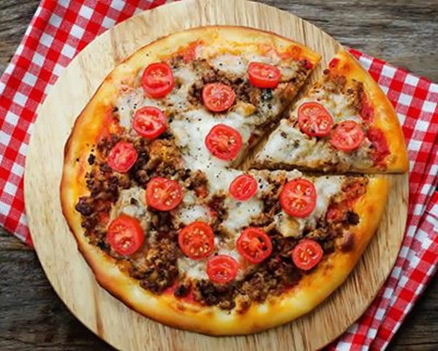 Pizza au bœuf épicé au thermomix