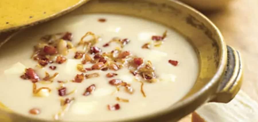 Velouté de haricots blancs aux lardons au thermomix