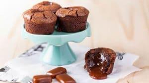 Petits moelleux au coeur fondant de chocolat caramel au thermomix