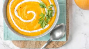 Velouté de carotte et potiron au boursin au thermomix