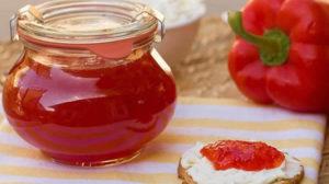 Confiture de poivron au safran au thermomix