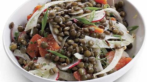 Salade de lentilles au saumon Recette WW