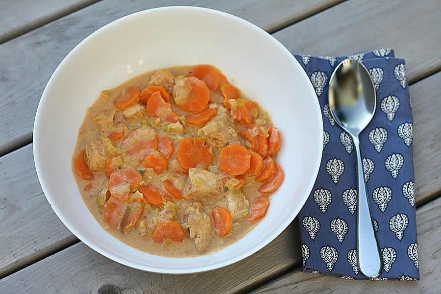 Poulet aux carottes au Thermomix