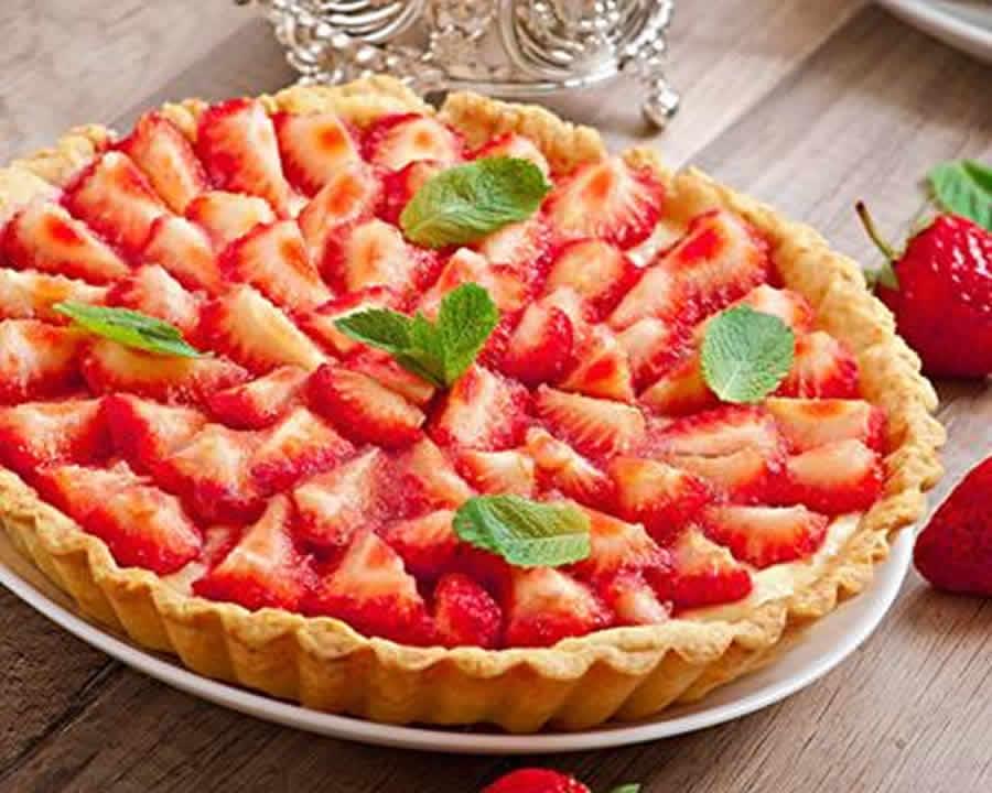 Tarte aux fraises et à la crème pâtissière au Thermomix