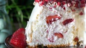 Angel cake aux fraises au Thermomix