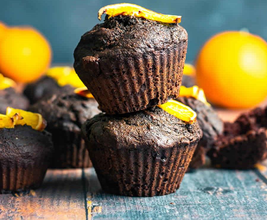 Muffins au chocolat et à l'orange au Thermomix
