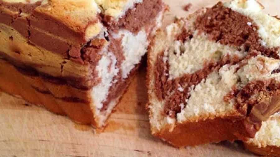 Cake marbre moelleux au chocolat au Thermomix