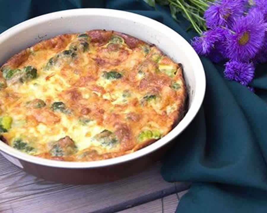 Quiche au brocoli et lardons Recette WW