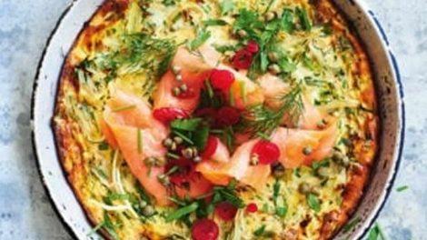 Clafoutis au saumon et poireaux Recette WW