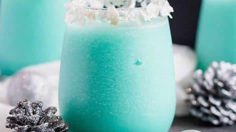 Cocktail de Noël au curaçao au Thermomix