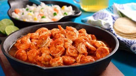 Crevettes citronnées au piment