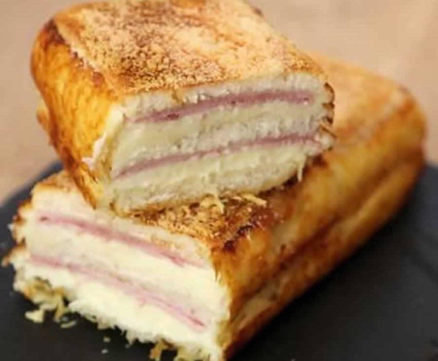 Croque-cake au jambon et fromage au Thermomix