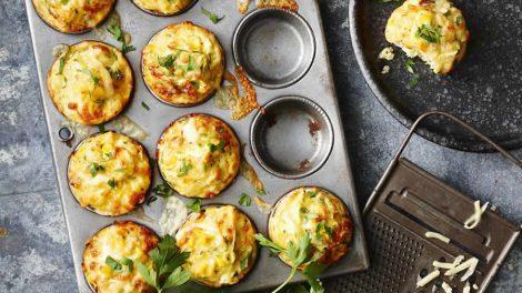 Muffins légers au thon et aux courgettes