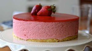 Bavarois aux fraises au Thermomix