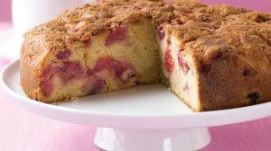 Gâteau tendre à la rhubarbe au Thermomix