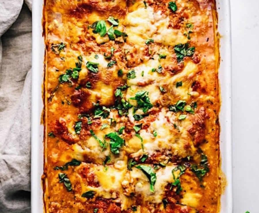 Lasagnes de courgettes et tomates WW