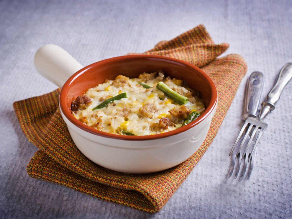 Gratin de riz courgettes et viande hachée WW