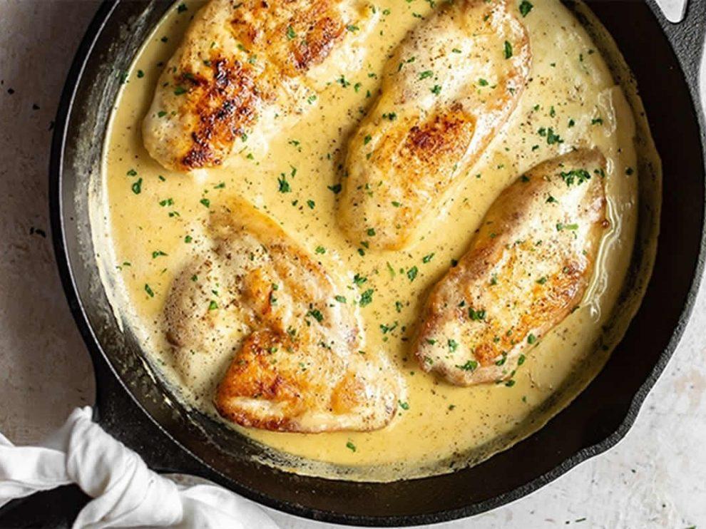 Blancs de poulet à la crème de moutarde au Thermomix