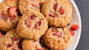 Cookies au yaourt et fraises WW