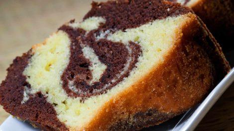 Gâteau marbré au chocolat yaourt et noix de coco WW