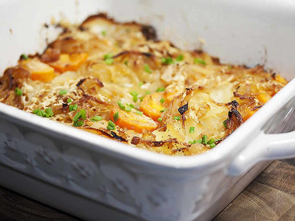 Gratin de pommes de terre et carottes au Thermomix