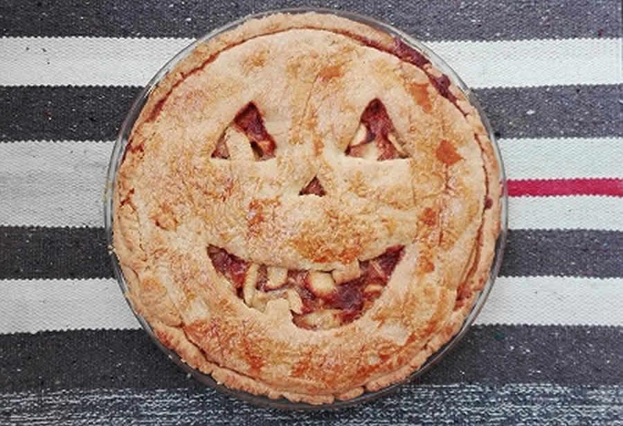 Tarte aux pommes d'Halloween au thermomix