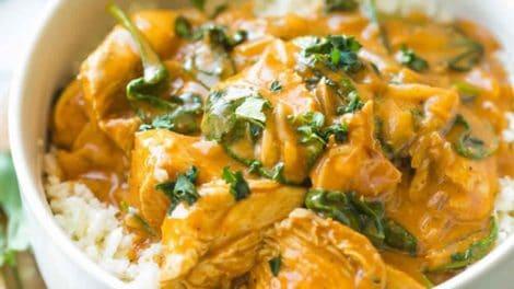 Poulet au coco et curry au Cookeo