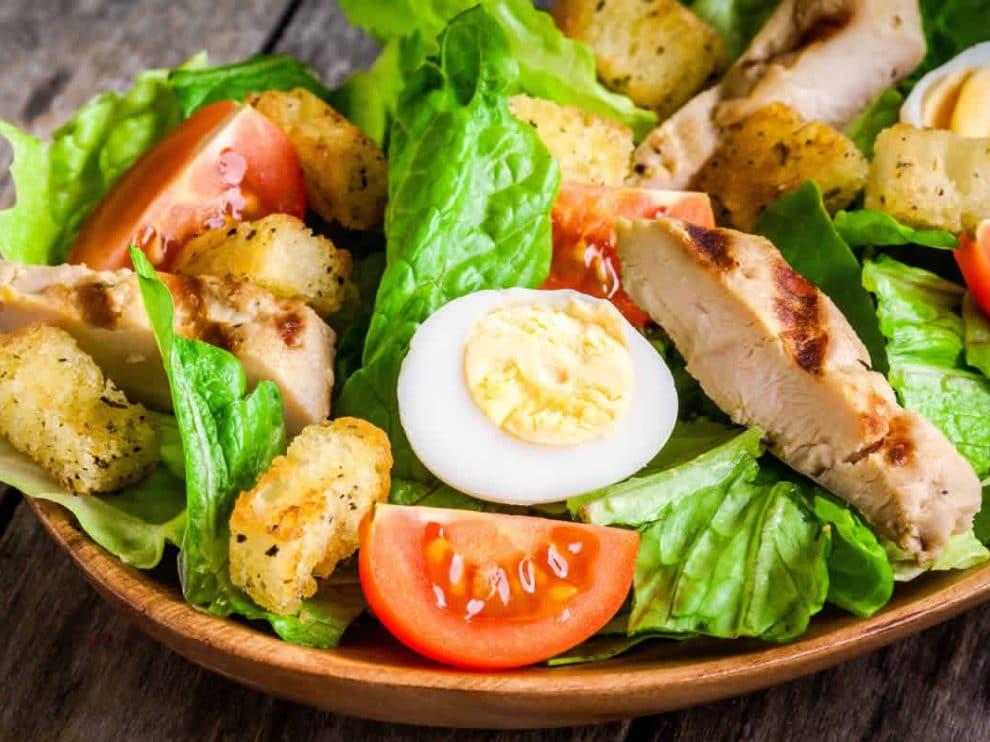 Salade césar au poulet WW